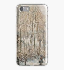 Camille Pissarro - Morning Sunlight On The Snow, Eragny Sur Epte  1895 iPhone Case/Skin