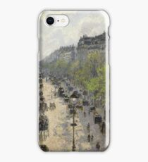 Camille Pissarro - Boulevard Montmartre - Spring, 1897 iPhone Case/Skin