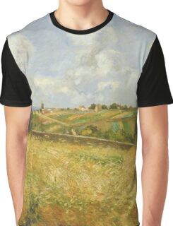 Camille Pissarro - A Rye Field, Hill Of Gratte Coqs, Pontoise 1877 Graphic T-Shirt