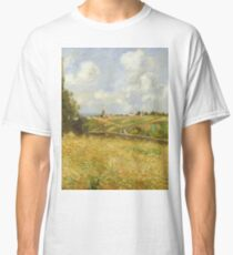 Camille Pissarro - A Rye Field, Hill Of Gratte Coqs, Pontoise 1877 Classic T-Shirt