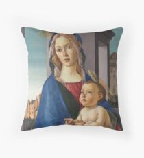 Botticelli - The Virgin And Child  1490 Throw Pillow