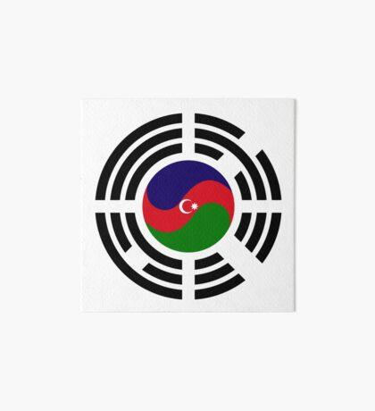 Korean Azerbaijan Multinational Patriot Flag Series Art Board Print