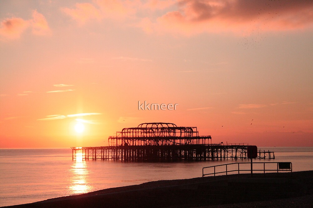 Sun setting over Brighton by kkmeer