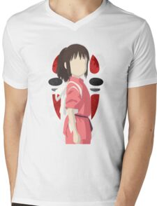 spirited away-chihiro and no-face Mens V-Neck T-Shirt