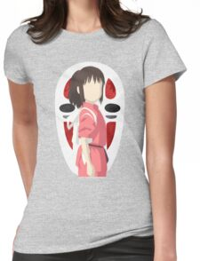 spirited away-chihiro and no-face Womens Fitted T-Shirt