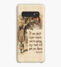 Alice in Wonderland Quote - We're All Mad Here - Cheshire Cat Quote - 0237 Case/Skin for Samsung Galaxy