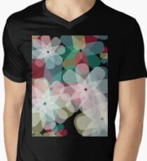 Beautiful abstract flower pattern Men's V-Neck T-Shirt