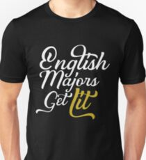 English Majors Get Lit T-Shirt