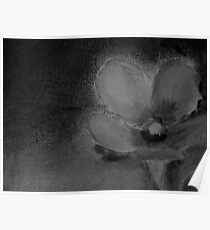 Abstract Flower in Black and White Painting Poster