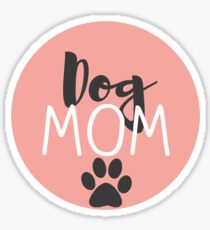Dog Mom - Peach Sticker