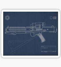 Blueprint of a Stormtrooper Blaster Rifle Sticker