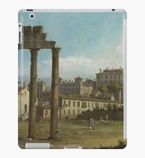 Bernardo Bellotto - Ruins Of The Forum, Rome 1743 iPad Case/Skin