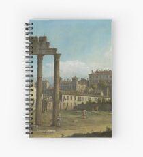 Bernardo Bellotto - Ruins Of The Forum, Rome 1743 Spiral Notebook