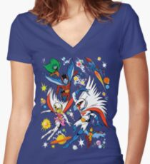 G-FORCE Women's Fitted V-Neck T-Shirt