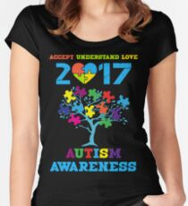 AUTISM AWARENESS 2017 Women's Fitted Scoop T-Shirt