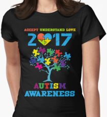 AUTISM AWARENESS 2017 Womens Fitted T-Shirt