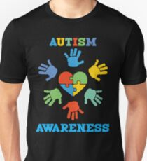 AUTISM AWARENESS HAND Unisex T-Shirt