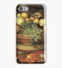 Balthasar Van Der Ast - Still Life With Basket Of Fruit 1622 iPhone Case/Skin