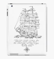 Sailing ship with Columbus quote iPad Case/Skin