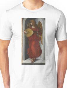 Associate Of Leonardo Da Vinci - An Angel In Red With A Lute Unisex T-Shirt