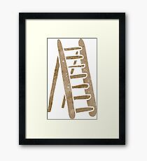 retro cartoon ladder Framed Print