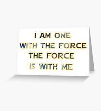 Force With Me Greeting Card