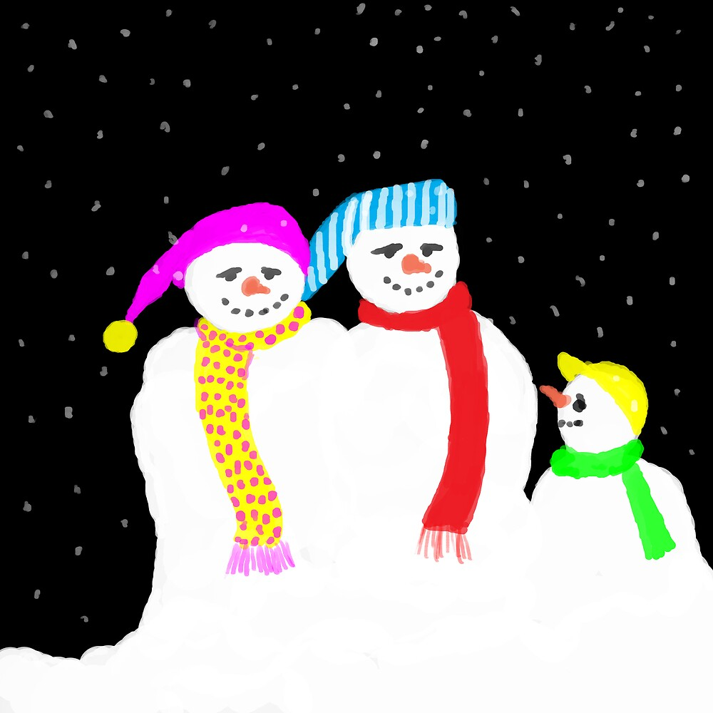 Snow Family by Catherine Brock