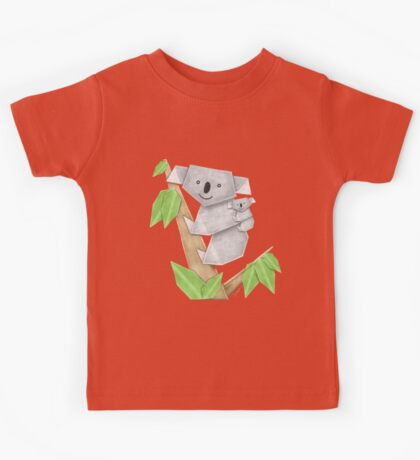 Cuddly Koala with cute Baby Origami Kids Clothes
