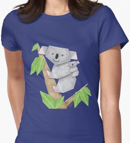 Cuddly Koala with cute Baby Origami T-Shirt