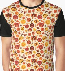 Silly Brown Pattern Graphic T-Shirt