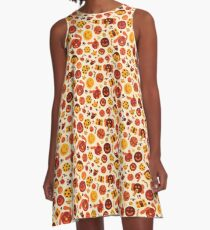 Silly Brown Pattern A-Line Dress