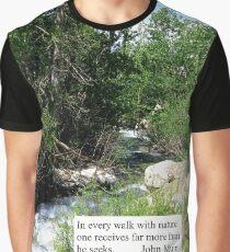 Rock Creek, Eastern Sierra Nevada Graphic T-Shirt