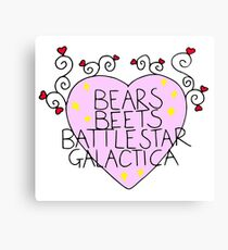 Bears, Beets, Battlestar Galactica  Canvas Print