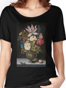 Ambrosius Bosschaerts The Elder - Still-Life With Flowers Women's Relaxed Fit T-Shirt