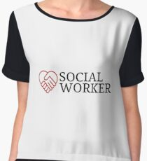 Love Social Worker - Social Work Gift Chiffon Top