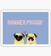 Summer Pugs Sticker