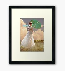 Woman with Parasol - Monet Framed Print