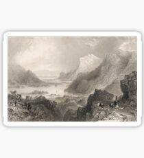 Approach to Killarney, Ireland, 1841 Sticker