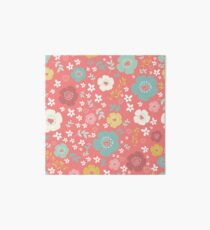 Colorful Cute Flowers Pattern Art Board