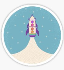 Sci-Phi Rocket Sticker