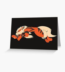 Cool Running Arcanine  Greeting Card