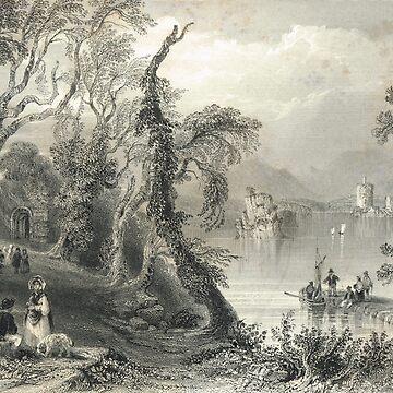 Innisfallen Lake Killarney, Ireland 1841 by artfromthepast
