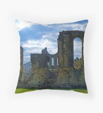 Byland Abbey 2 Throw Pillow
