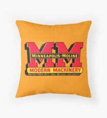 Minneapolis Moline Modern Machinery Throw Pillow
