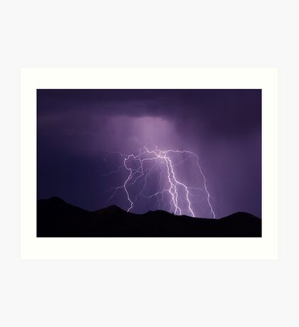 Electrical Storm Art Print