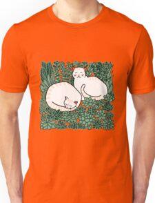 Cats in a succulent garden Unisex T-Shirt
