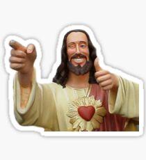smiling jesus Sticker