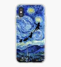 Peter Pan Starry Night iPhone Case