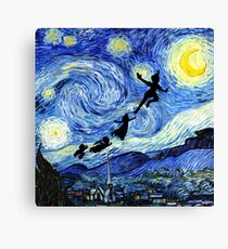 Peter Pan Starry Night Canvas Print