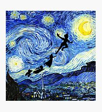 Peter Pan Starry Night Photographic Print